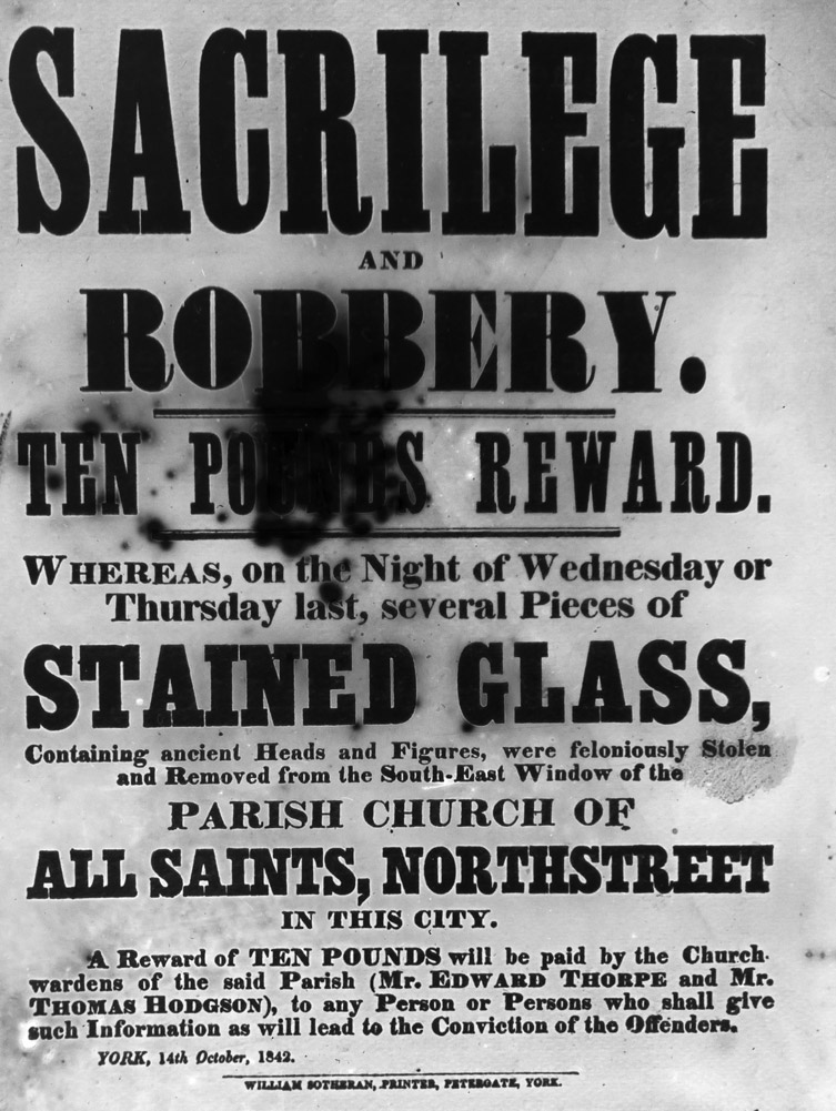 stained glass sacrilege poster